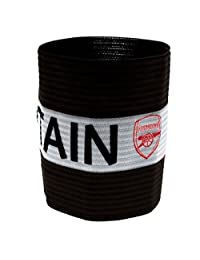 Arsenal FC Official Captains Football Crest Sports Armband (One Size) (Red/White/Black)