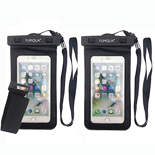 YUMQUA Universal Floating Waterproof Case with Armband,Waterproof Dry Bag Cell Phone Pouch for iPhone X 8 7 6S Plus,Galaxy S9 S8/J3 J7 Star Refine,Pixel 3 2,LG Moto ZTE Nokia Up to 6.2