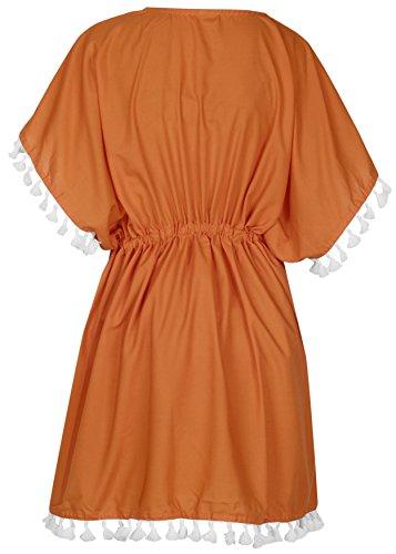 delle donne LEELA spiaggia costume bagno da kimono camicetta arancione bikini costumi LA coprire da bagno Pgc4w