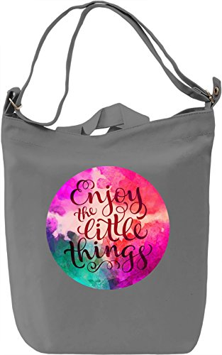 Enjoy The Little Things Borsa Giornaliera Canvas Canvas Day Bag| 100% Premium Cotton Canvas| DTG Printing|