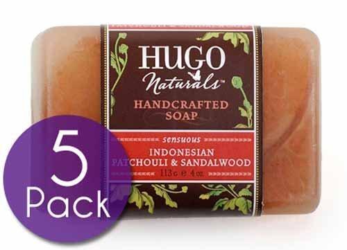 Orange Soap Vanilla - Indonesian Patchouli And Sandalwood<br>Soap Bars Multipack (5 Count)<br>by Hugo Naturals