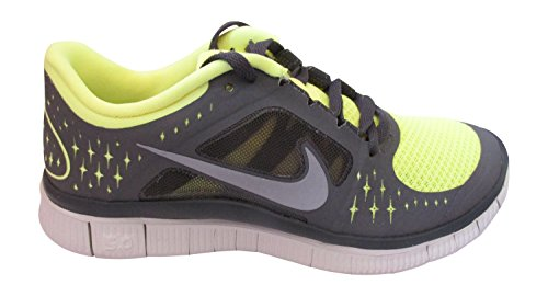 nike free run+ 3 womens running trainers 510643 sneakers shoes (uk 4.5 us 7 eu 38, electric yellow reflective silver midnight 700)