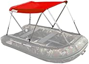 ALEKO® BSTENT320R Summer Canopy Boat Tent Sun Shelter Sunshade for Inflatable Boats, Red