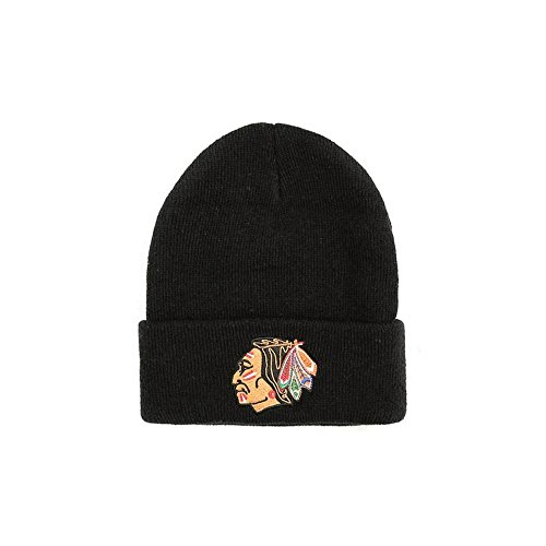 con borla diseño BLACKHAWKS EU785 Black NHL NHL Mighty amp; Ducks Gorro Ness de Mitchell CHICAGO YxXSFIq4w7