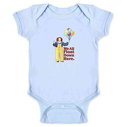 Pop Threads Clown Float Down Here Minimalist Light Blue 6M Infant Bodysuit -