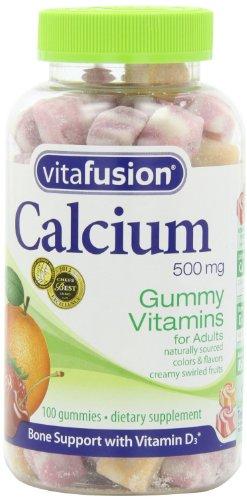 Vitafusion Calcium Gummy vitamines pour adultes 100 CT (pack de 2)