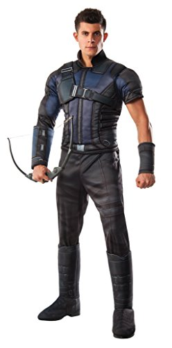 [Marvel Men's Captain America: Civil War Deluxe Muscle Chest Hawkeye Costume, Multi, X-Large] (Hawkeye Avengers Deluxe Adult Costumes)