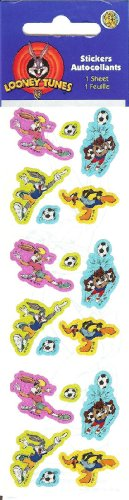 Looney Tunes (Bugs, Daffy, Taz) Soccer Sparkle Stickers