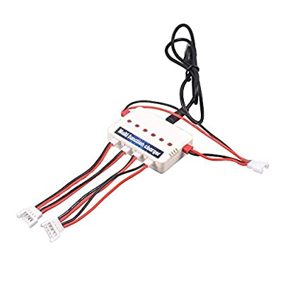 YouCute 1to3 Battery Charger for Freelander U845 Udi U818A WIFI , Hornet FPV Drone , U28 wifi EAGLE Rc Quadcopter Drone Spare Parts (Charger)