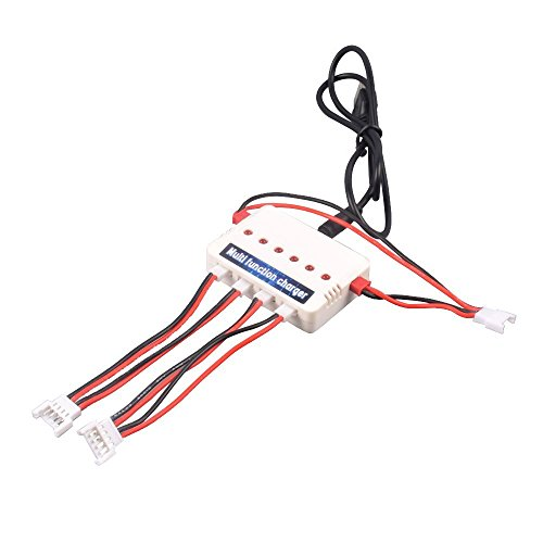 Spare Part Eagle - YouCute 1to3 Battery Charger for Freelander U845 Udi U818A WIFI , Hornet FPV Drone , U28 wifi EAGLE Rc Quadcopter Drone Spare Parts (Charger)