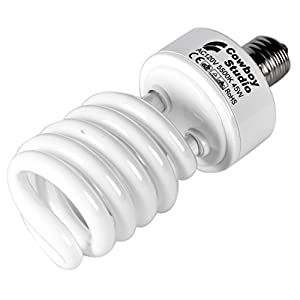 CowboyStudio 45W Compact Fluorescent CFL Daylight Balanced Bulb with 5500K Color Temperature for Photography and Video Studio Lighting