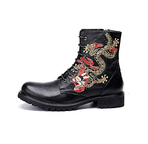 L'hiver Chaussures Bottes À Singer Pour Casual Martin En Dragon Rock Lacets Chelsea L'automne Et Eu40 Motif Hommes Classiques Cuir Chaudes F4UrFO