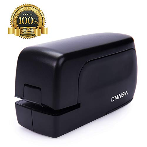 CNASA Heavy Duty Electric Stapler, Portable Full Strip Staple Capacity 24 Sheets Jam-Free for Office,Professional,Classroom School and Home Use,Black Battery Operated or AC Adapter(Included)