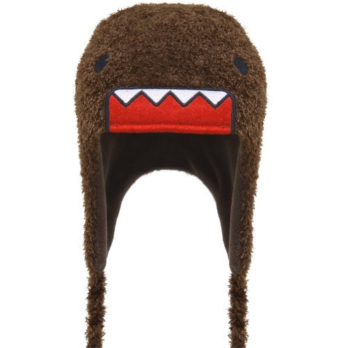 - Domo Kun Face Japan Peruvian Fuzzy Adult Pilot Laplander Hat