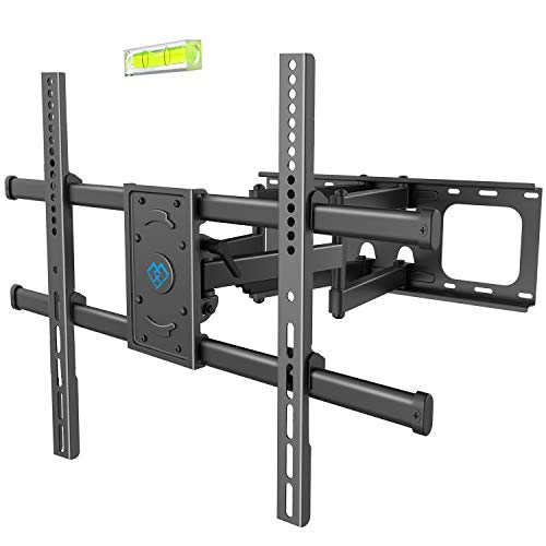 Heavy Duty Tv Wall Mount - PERLESMITH TV Wall Mount Bracket Full Motion, Tilts, Swivels for most 50-90 Inch LED LCD OLED Flat Screen Plasma TVs with Dual Articulating Arms, Holds up to 165lbs VESA 800x600mm,Max Stud Spacing 24