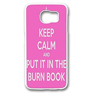 Plastic Case Cover for Samsung galaxy S6,Samsung galaxy S6 case With mean girls quotes design (keep calm and put it in the burn book) by mcsharks