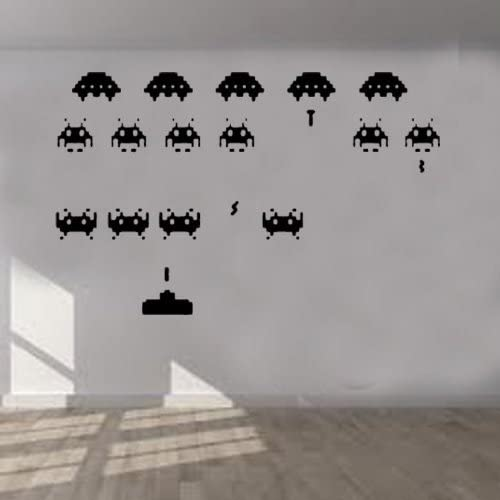 Choose Size SPACE INVADERS SET Decal Removable WALL STICKER Home Decor Game