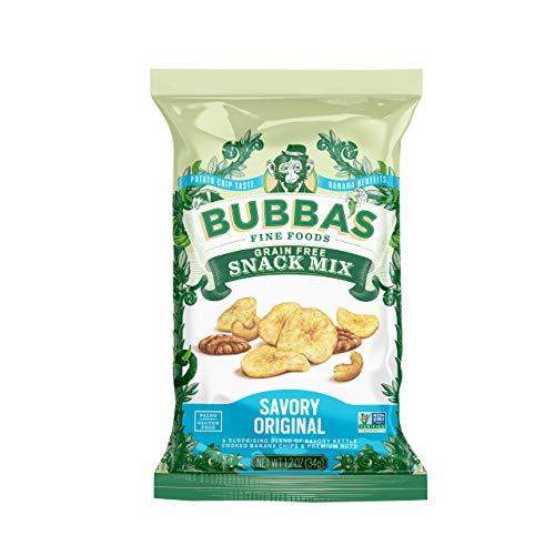 Bubbas Fine Foods Single-Serve Snack Mix, Savory Original (Pack of 8) | Grain-Free, Gluten-Free, Vegan, Paleo, Dairy Free and Certified Non-GMO