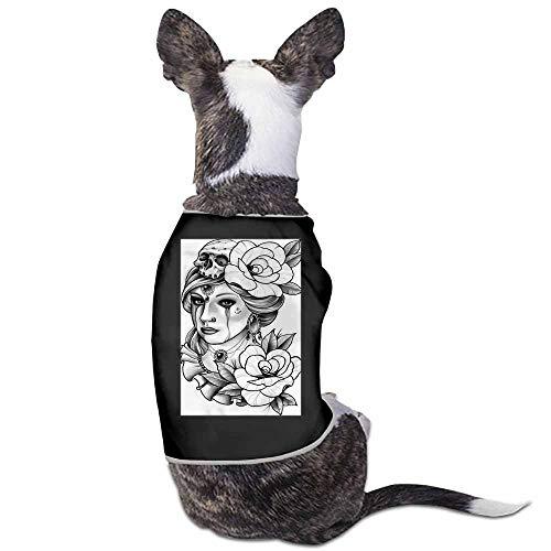 StyleDirect Spring and Summer Pet Dog Clothing Shirt,Banshee Print Dog Costumes Pet Dog Clothes Shirt(Black)-L ()