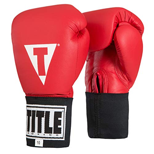 Title USA Boxing Competition (Elastic), Red, 12 oz