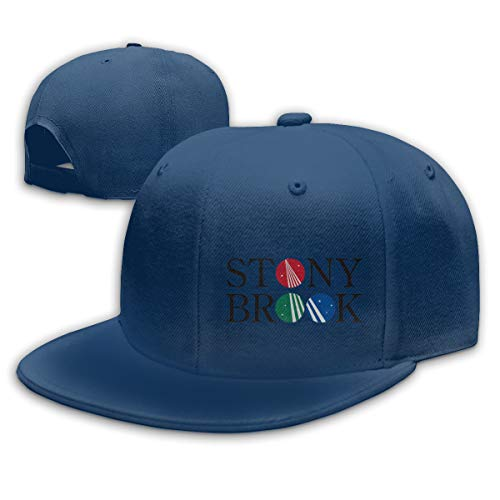 Linqarcon Men & Women Logo with Stony Brook University Outdoor Baseball Dad Hat Adjustable Unisex Navy (Brook Hat University Stony)