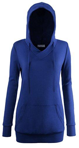 Royal Blue Long Sleeve Pullover - 1