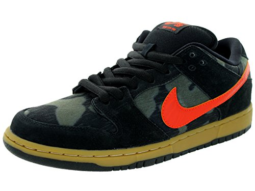 Nike Dunk Premium Sb (Nike Men's Dunk Low Premium SB Black/Team Orange/Rough Green Skate Shoe 8 Men US)