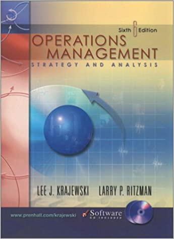 Operations management strategy and analysis 6th edition lee j operations management strategy and analysis 6th edition 6th edition fandeluxe Gallery