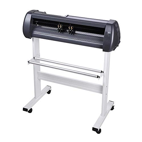 28'' Cutting Plotter Vinyl Cutter Machine Adjustable Width with LCD Display USB Connection Auto Memory Digital Force Speed Rotating Blade Holder Stepper Motor US Delivery by ZeHuoGe (Image #3)