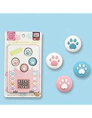 SHEAWA Katt tass tryck silikon tumgrepp skydd ersättning joystick vipplock för Nintendo Switch/Lite söt tecknad tass kontroll tumgrepp skydd (3)