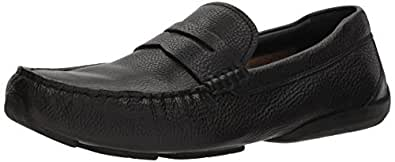 Cole Haan Men's Branson Penny Driver Loafer, Black Tumbled, 7 Wide US