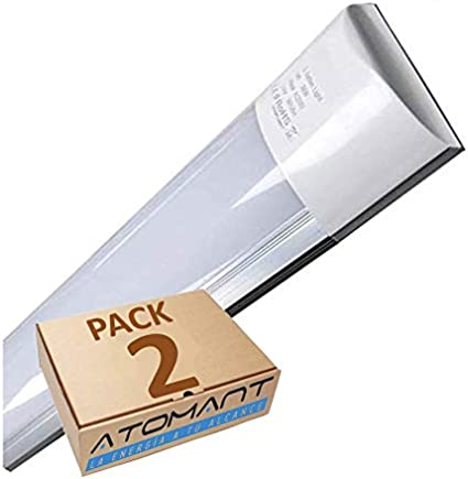 Pack 2X Lampara Luminaria 120cm. 40w. Color Blanco Frío (6500K). 3300 Lumenes. A++