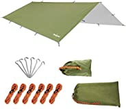 Unigear Hammock Rain Fly Waterproof Tent Tarp, UV Protection and PU 3000mm Waterproof, Lightweight for Camping