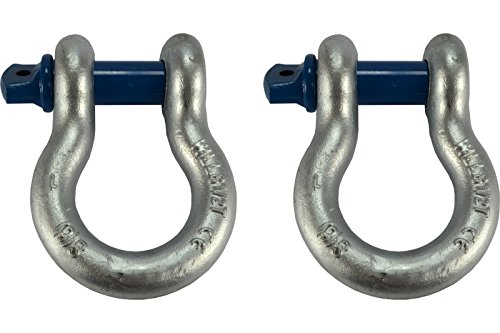Temco 2 Lot 1'' D Ring Bow Shackle Screw Pin Clevis Rigging Jeep Towing 8.5 Ton by Temco