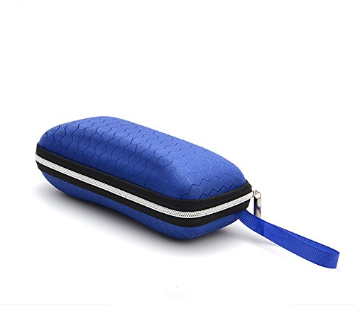 LANGUAN Portable Zipper Eyeglasses Case, Honeycomb Glasses Sunglasses Hard Case Box Protector for Men & Women or - Kids In Sunglasses