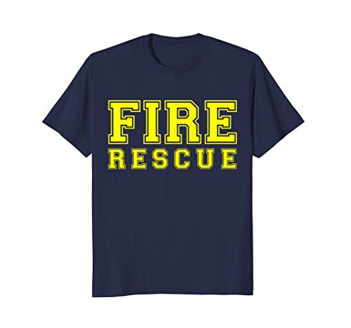 Mens Fire Rescue Department T-Shirt for Firefighters Firemen EMS Large (Fire Ems Apparel)