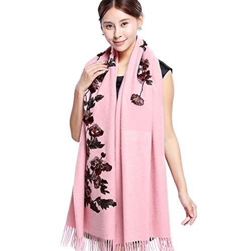 Autumn and winter scarves/ wedding shawls/Dual coat super long thick scarf-B One Size by clothing