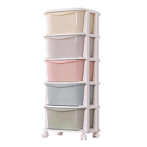 Nafenai 5 Drawer Rolling Storage Cart By Nafenai