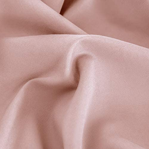 Mohap Bed Sheet Set 4 Pieces Brushed Microfiber Luxury with Soft Bedding Fade and Stain Resistant Queen, Blush Pink