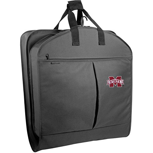 Wally Bags WallyBags Mississippi State Bulldogs 40 Inch Suit Length Garment Bag with Pockets, Black MST