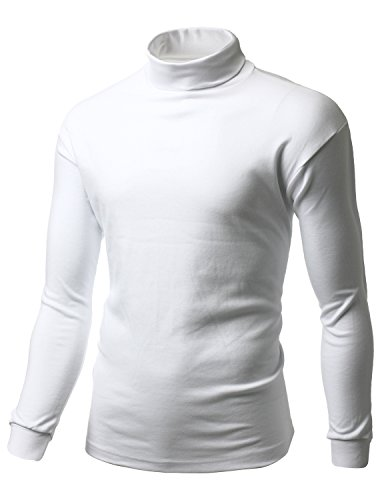 White Cotton Turtleneck - 9