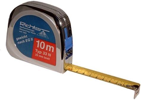 L/änge 10m Taschenbandma/ß Richter Taschenrollbandma/ß Bandma/ß 25mm breit L/ängen:Tachen-Rollbandma/ß 33N-10m