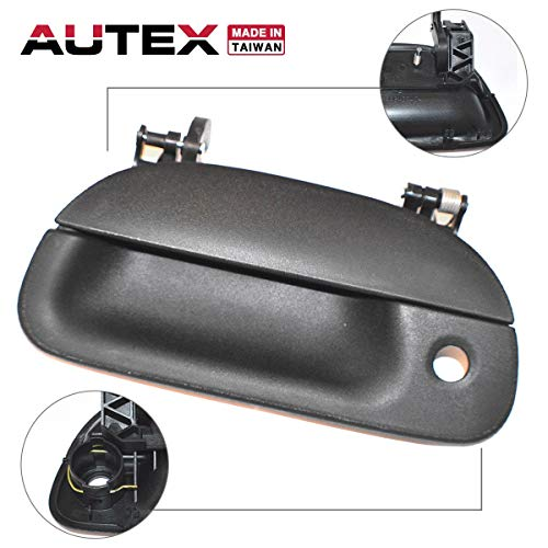 AUTEX Tailgate Handle Liftgate Door Handle Compatible with 1999 2000 2001 2002 2003 2004 2005 2006 2007 Ford F-250 350 450 550 Super Duty 01 02 03 04 05 Ford Explorer Sport Trac 80238
