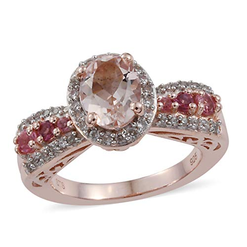 Promise Ring 925 Sterling Silver Vermeil Rose