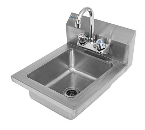 Empura Commercial 16-1/2'' Stainless Steel Wall Mount Washing Hand Sink and Faucet by Empura (Image #2)