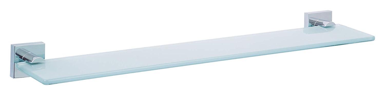 Mensola per specchio tesa Ekkro, metallo cromato lucido, autoadesiva, tecnologia di montaggio adesiva, 50mm x 600mm x 120mm 40243-00000-00