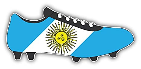 novland Argentina Flag Soccer Cleats Car Bumper Sticker Decal 6 x 3