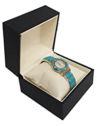 888 Display Elegant Sleeve Jewelry Watch Box - Perfect way to gift your watch (Dark Blue)