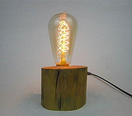 Industrial Light Foundry Wooden Mold Light Edison Bulb Light Globe Bulb Light Wooden Lamp