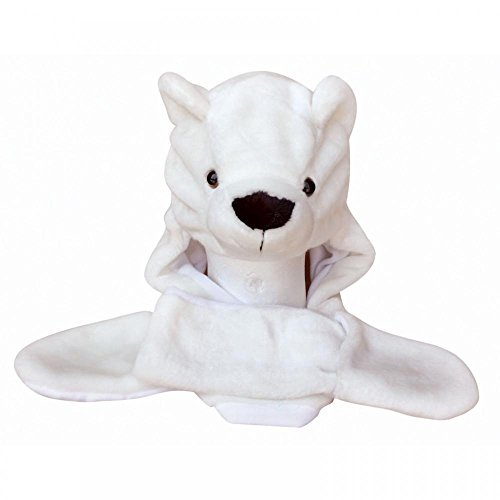 Polar Bear_(US Seller)Plush Hat+Earmuff+Scarf and Gloves / Mitten